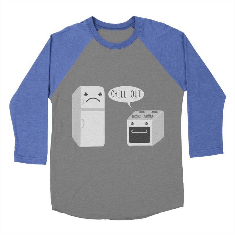Chill Out Men's Baseball Triblend T-Shirt by katie creates
