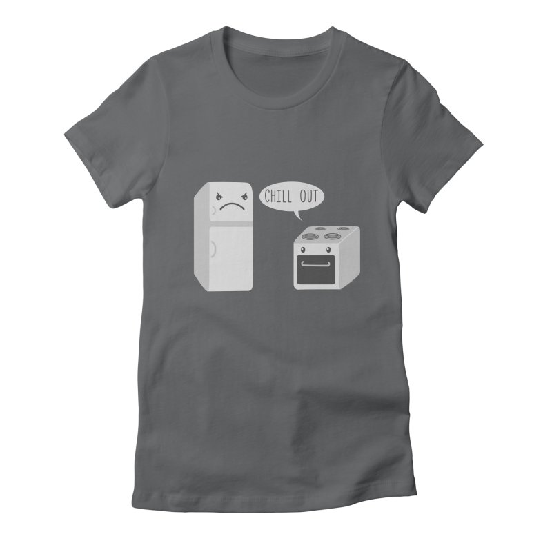 Chill Out Women's Fitted T-Shirt by katie creates