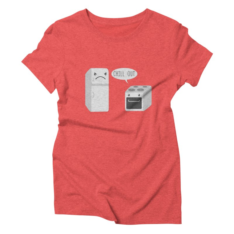 Chill Out Women's Triblend T-shirt by katie creates