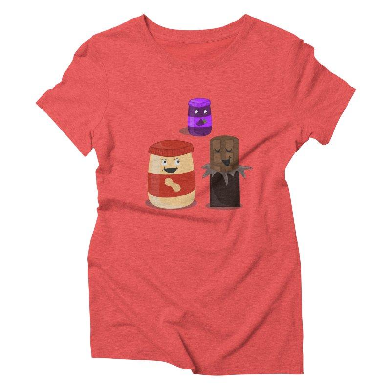 New Best Friend Women's Triblend T-Shirt by katie creates