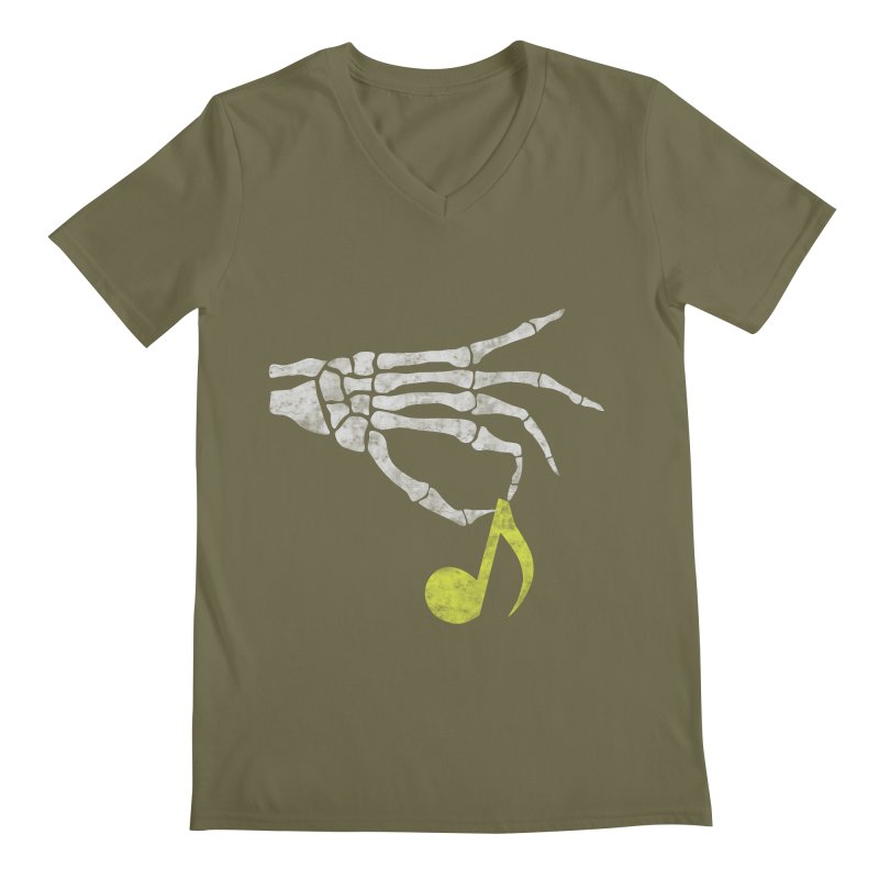 Drop The Beat Men's V-Neck by katie creates