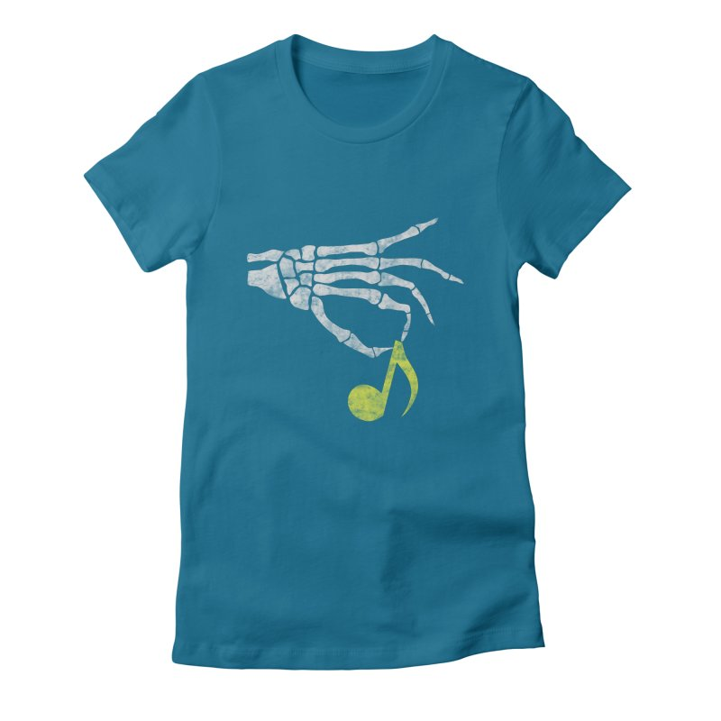 Drop The Beat Women's Fitted T-Shirt by katie creates