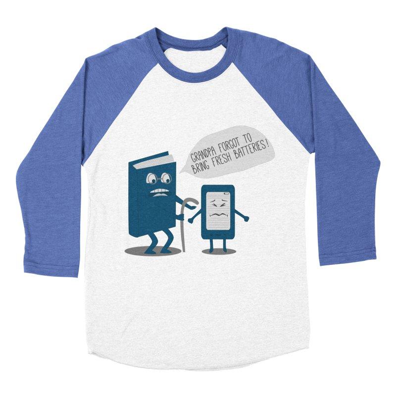 Fresh Batteries Men's Baseball Triblend T-Shirt by katie creates