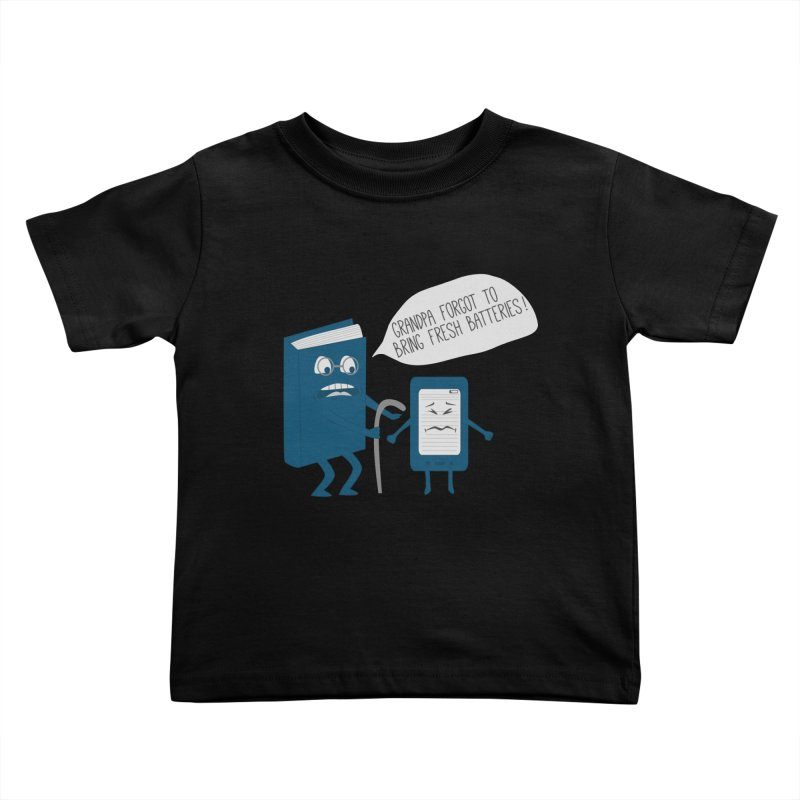 Fresh Batteries Kids Toddler T-Shirt by katie creates