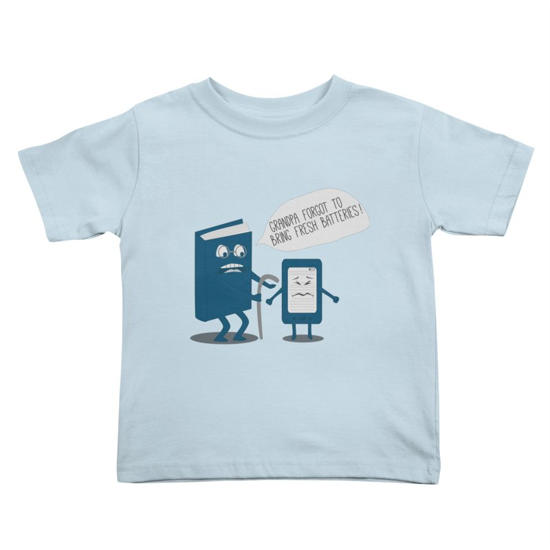Fresh Batteries Kids Toddler T-Shirt by katie creates