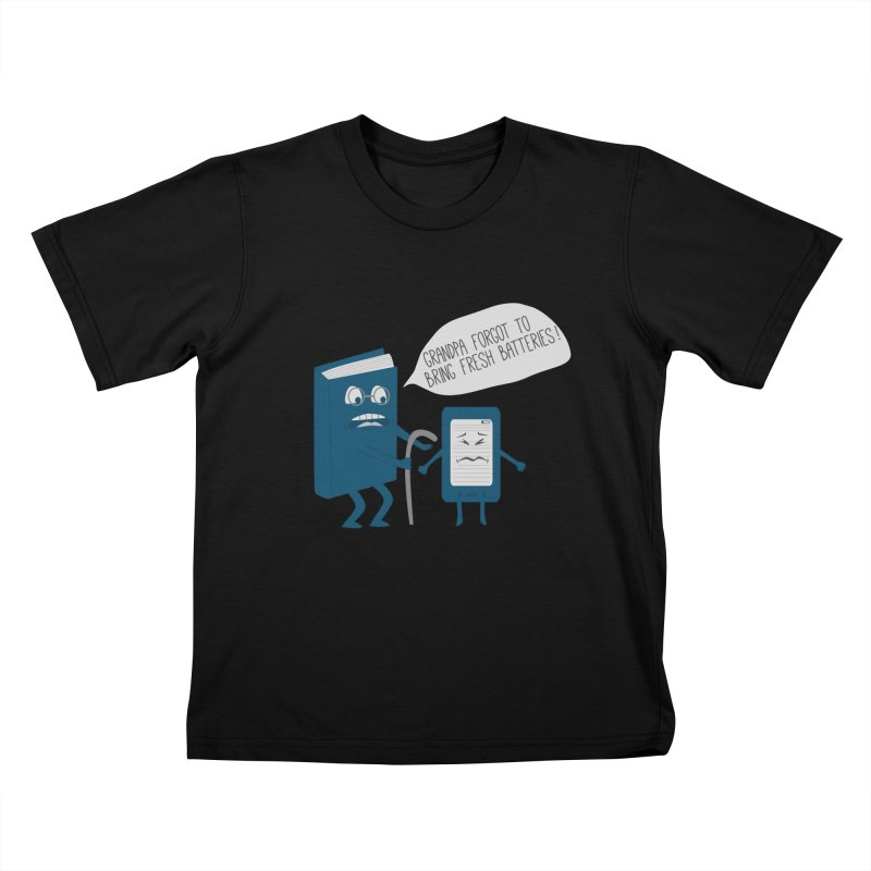 Fresh Batteries Kids T-shirt by katie creates