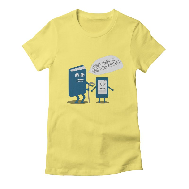 Fresh Batteries Women's Fitted T-Shirt by katie creates