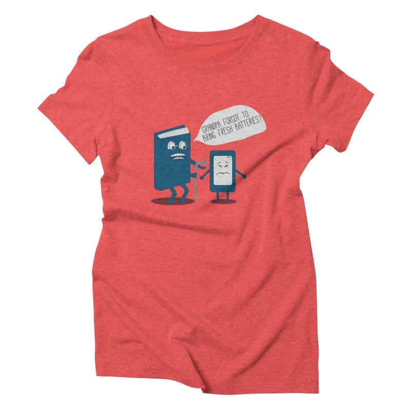 Fresh Batteries Women's Triblend T-shirt by katie creates
