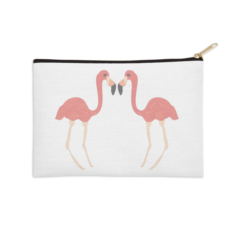 Flamingos Accessories Zip Pouch by Southerly Design Artist Shop