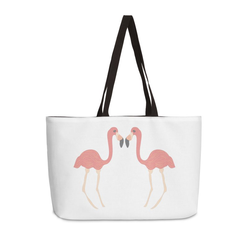 Flamingos Accessories Weekender Bag Bag by Southerly Design Artist Shop