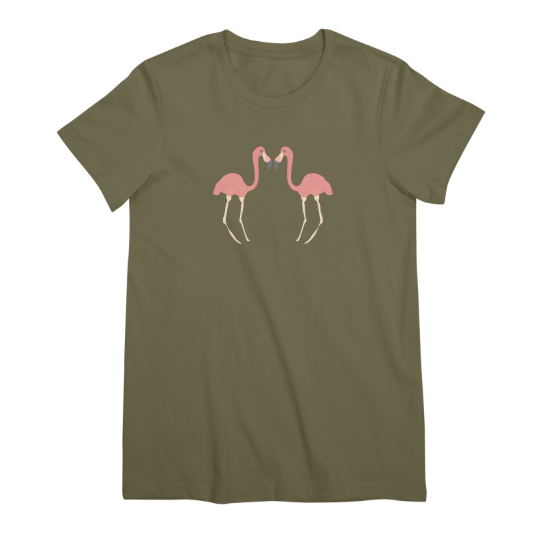 Flamingos Women's Premium T-Shirt by Southerly Design Artist Shop