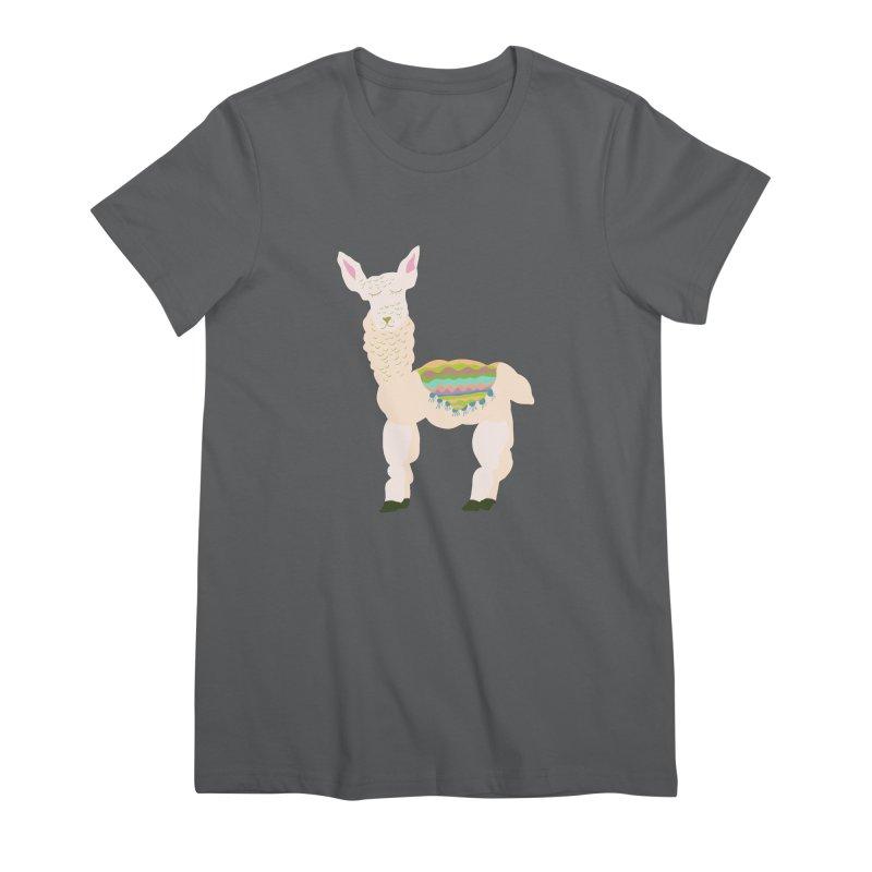 Llama Party! Women's Premium T-Shirt by Southerly Design Artist Shop
