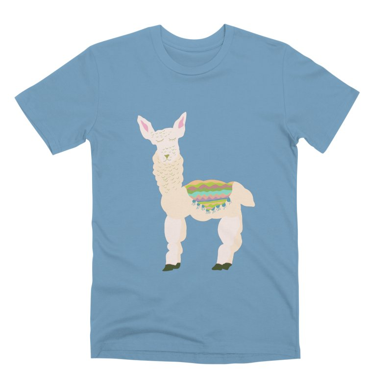 Llama Party! Men's Premium T-Shirt by Southerly Design Artist Shop