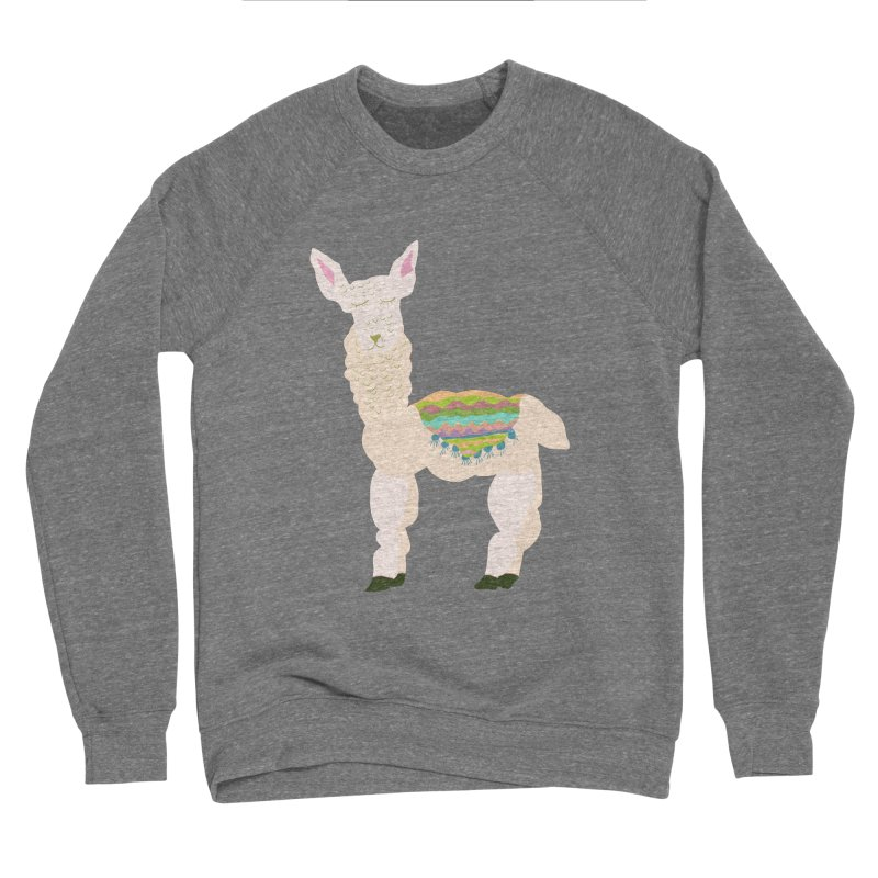 Llama Party! Men's Sponge Fleece Sweatshirt by Southerly Design Artist Shop