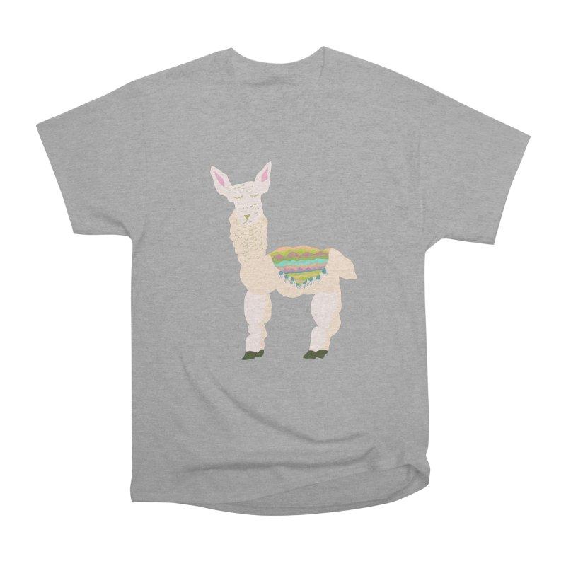 Llama Party! Women's Heavyweight Unisex T-Shirt by Southerly Design Artist Shop