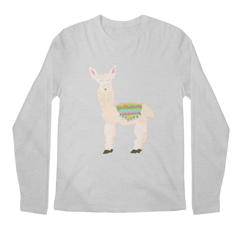 Llama Party! Men's Regular Longsleeve T-Shirt by Southerly Design Artist Shop