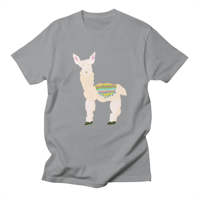 Llama Party! Men's Regular T-Shirt by Southerly Design Artist Shop