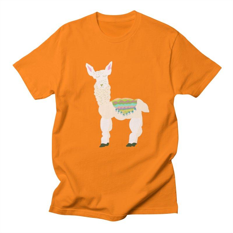 Llama Party! Men's Regular T-Shirt by Southerly Design Artist Shop