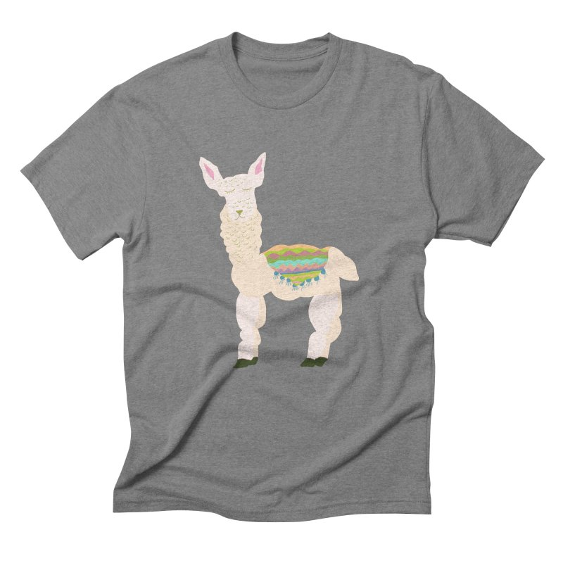 Llama Party! Men's Triblend T-Shirt by Southerly Design Artist Shop