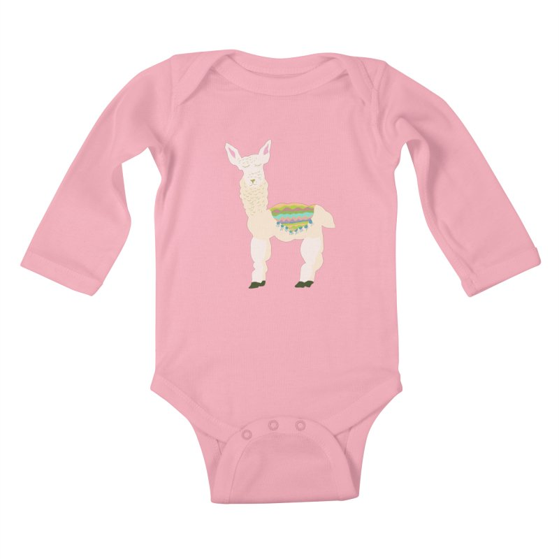 Llama Party! Kids Baby Longsleeve Bodysuit by Southerly Design Artist Shop