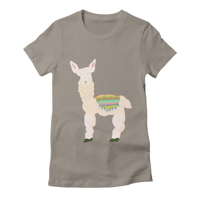 Llama Party! Women's Fitted T-Shirt by Southerly Design Artist Shop
