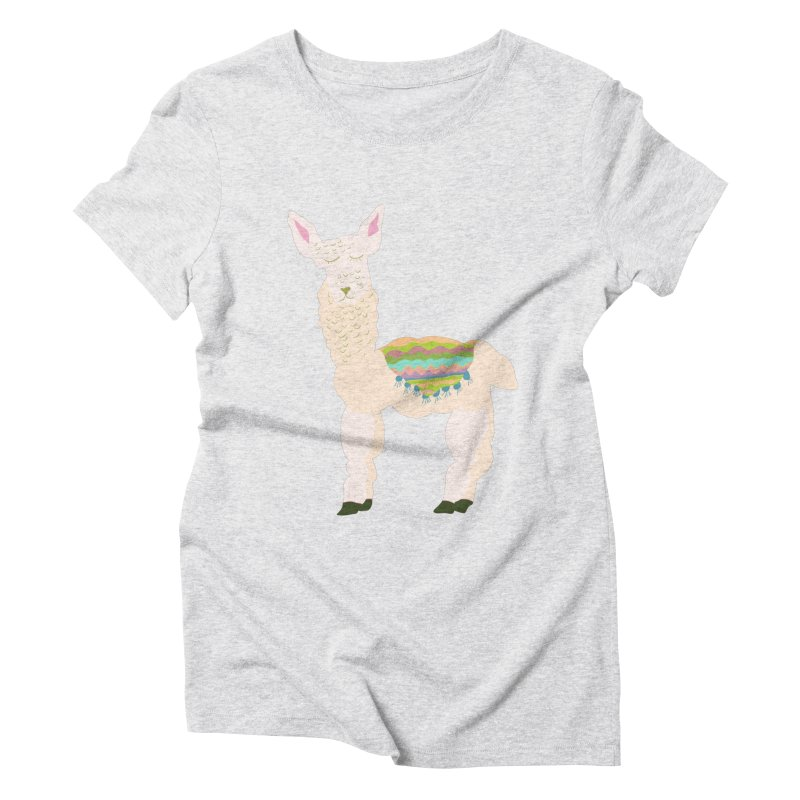 Llama Party! Women's Triblend T-Shirt by Southerly Design Artist Shop