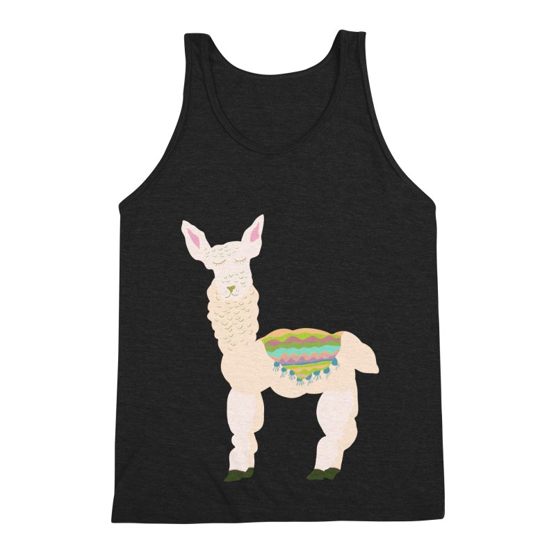 Llama Party! Men's Triblend Tank by Southerly Design Artist Shop