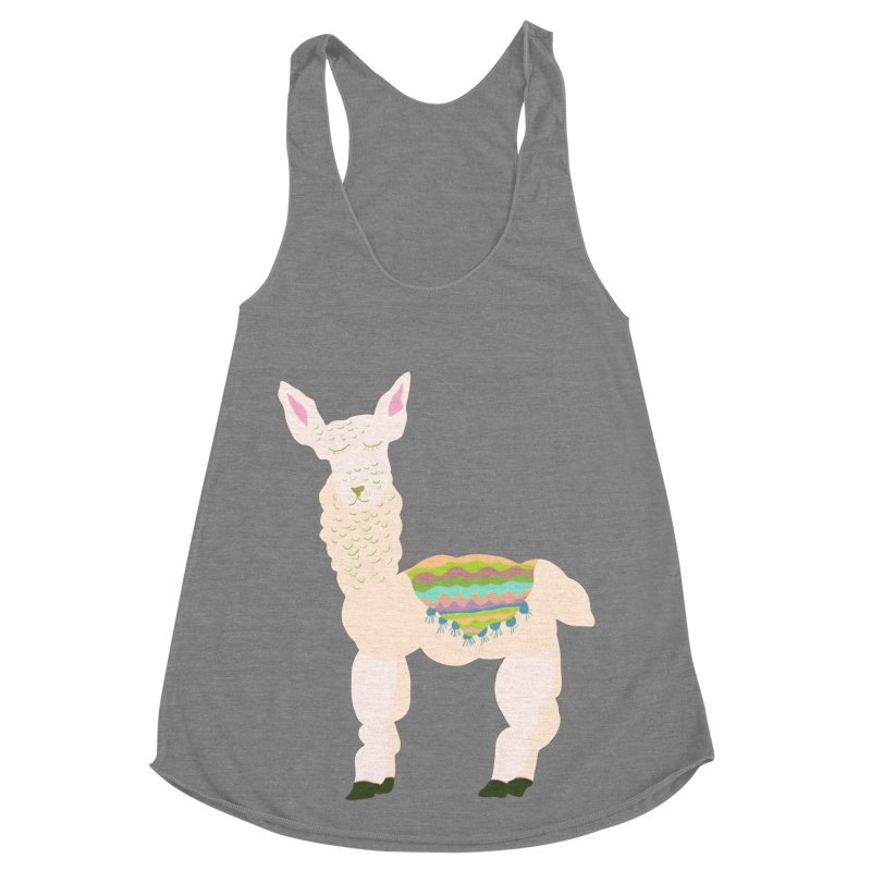 Llama Party! Women's Racerback Triblend Tank by Southerly Design Artist Shop