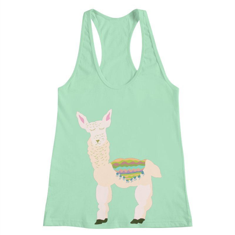 Llama Party! Women's Racerback Tank by Southerly Design Artist Shop