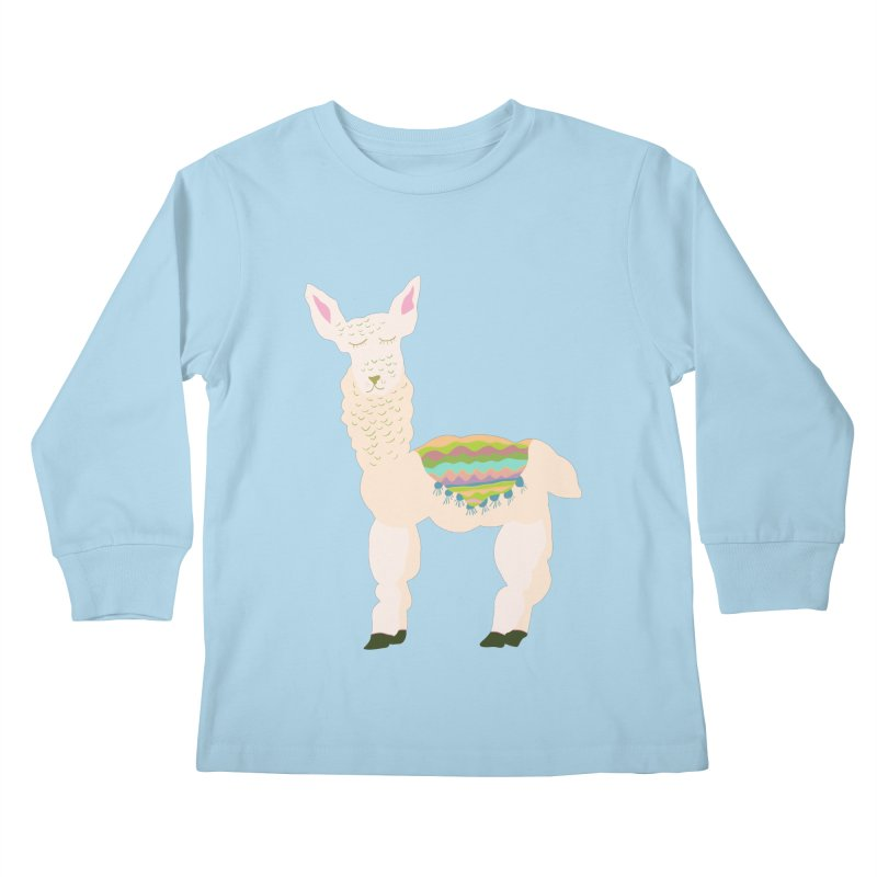 Llama Party! Kids Longsleeve T-Shirt by Southerly Design Artist Shop