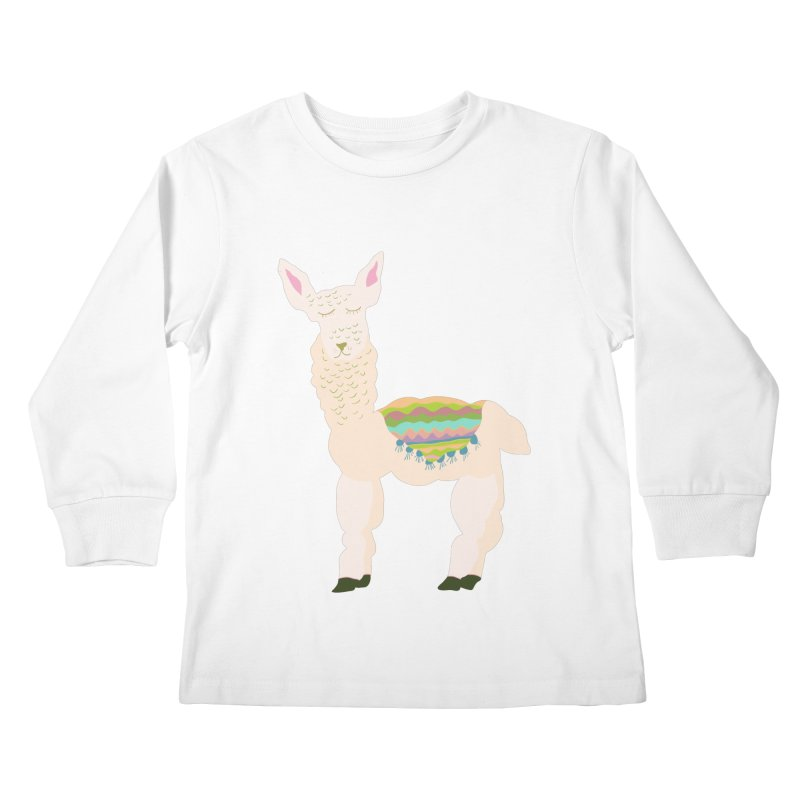 Llama Party! Kids Longsleeve T-Shirt by Southerly Design Artist Shop