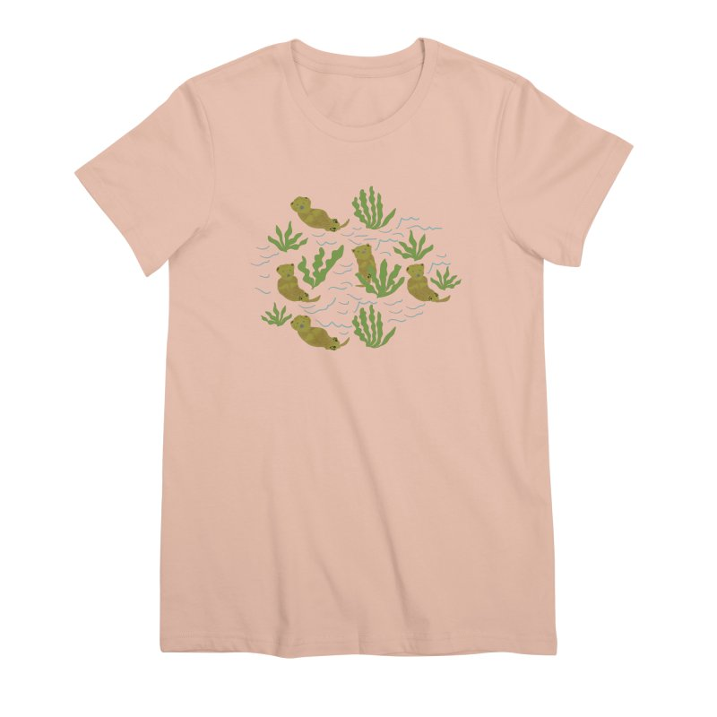 Otterly Adorbs Sea Otters Women's Premium T-Shirt by Southerly Design Artist Shop
