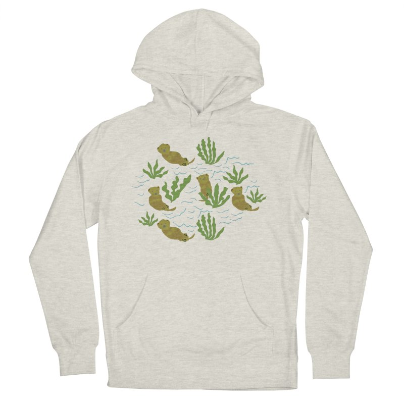 Otterly Adorbs Sea Otters Women's French Terry Pullover Hoody by Southerly Design Artist Shop