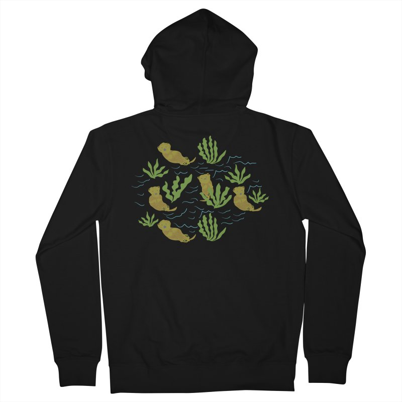Otterly Adorbs Sea Otters Men's French Terry Zip-Up Hoody by Southerly Design Artist Shop