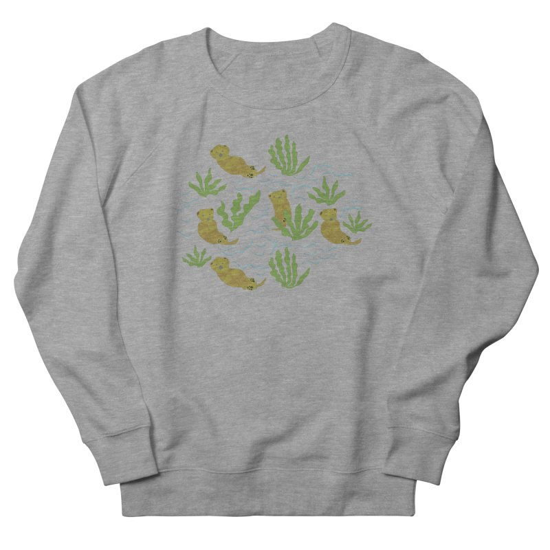 Otterly Adorbs Sea Otters Men's French Terry Sweatshirt by Southerly Design Artist Shop