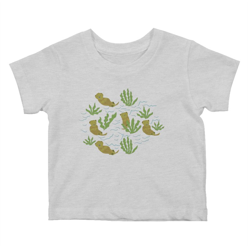Otterly Adorbs Sea Otters Kids Baby T-Shirt by Southerly Design Artist Shop