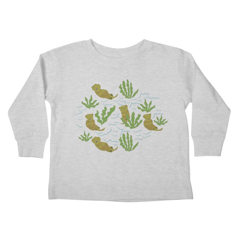 Otterly Adorbs Sea Otters Kids Toddler Longsleeve T-Shirt by Southerly Design Artist Shop