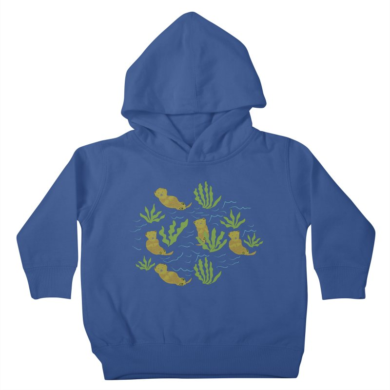 Otterly Adorbs Sea Otters Kids Toddler Pullover Hoody by Southerly Design Artist Shop