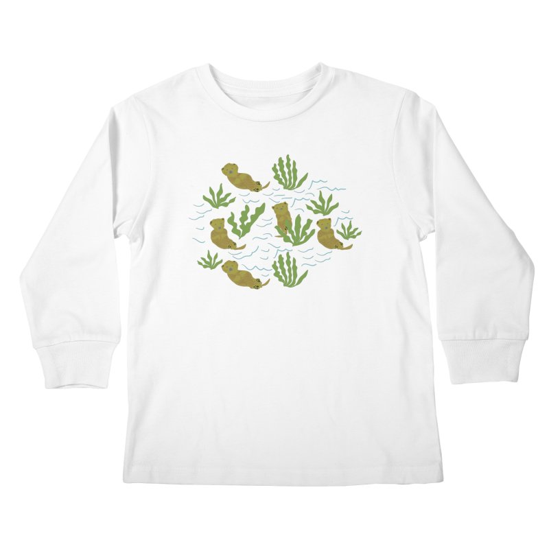 Otterly Adorbs Sea Otters Kids Longsleeve T-Shirt by Southerly Design Artist Shop