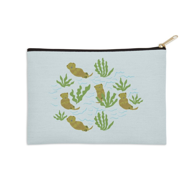 Otterly Adorbs Sea Otters Accessories Zip Pouch by Southerly Design Artist Shop