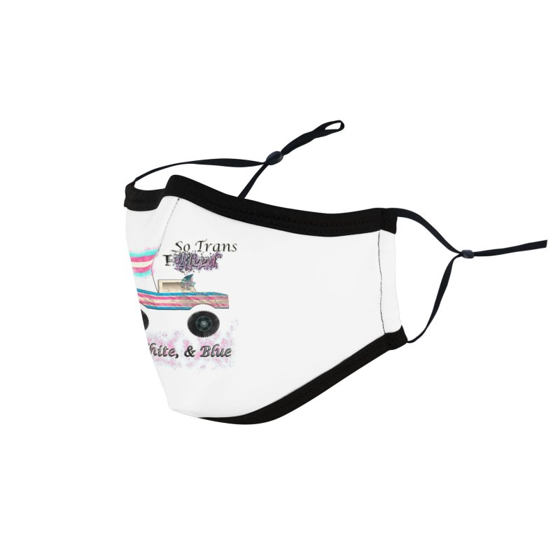 I'm so Trans I Bleed PINK, WHITE, & BLUE Accessories Face Mask by southernqueerpride's Artist Shop