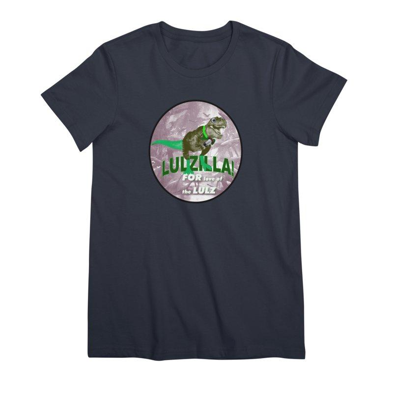 Lulzilla Logo Women's Premium T-Shirt by PGMercher  - A Pretty Good Merch Shop