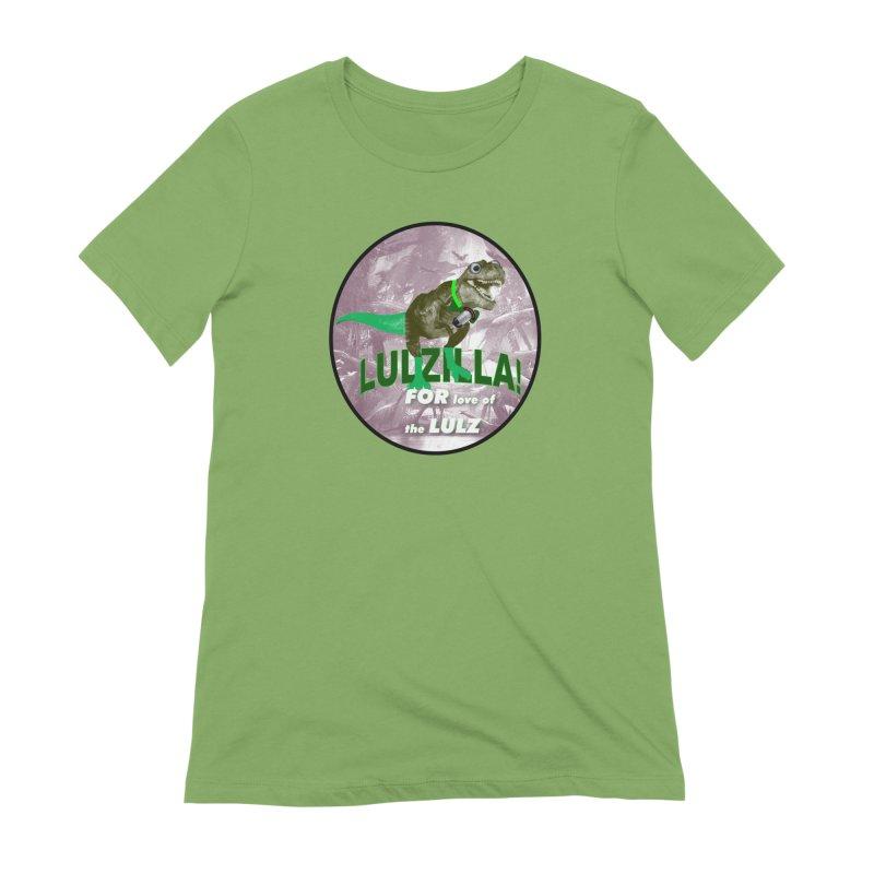 Lulzilla Logo Women's Extra Soft T-Shirt by PGMercher  - A Pretty Good Merch Shop