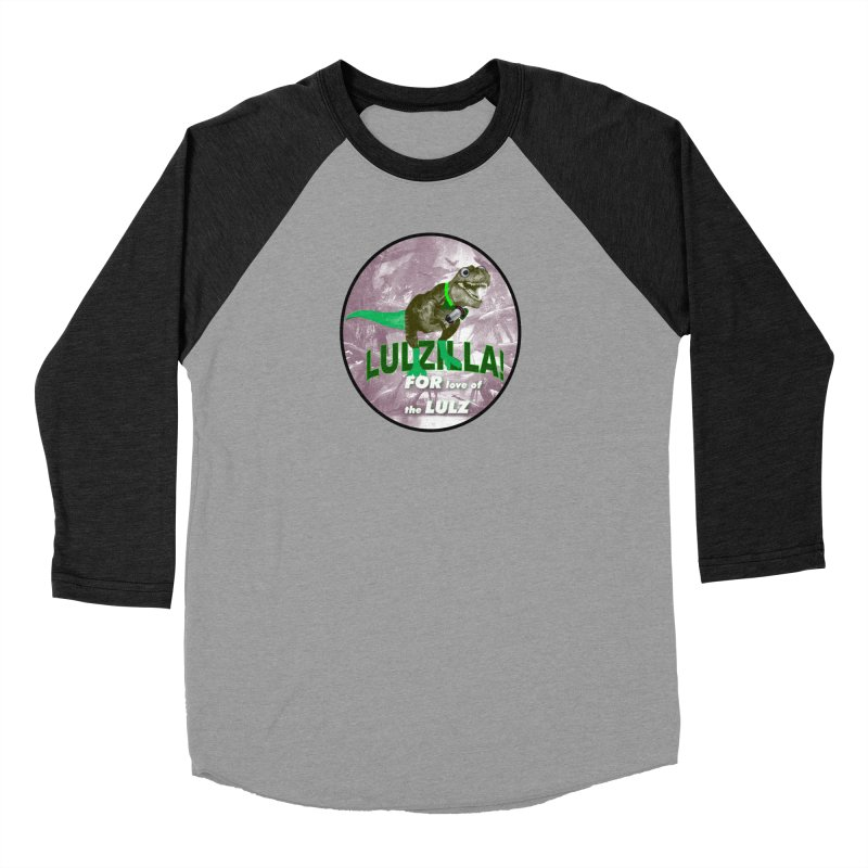 Lulzilla Logo Men's Baseball Triblend Longsleeve T-Shirt by PGMercher  - A Pretty Good Merch Shop