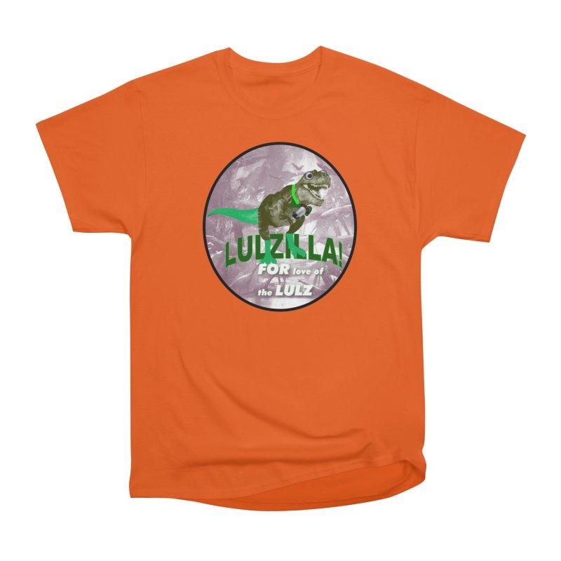 Lulzilla Logo Women's Heavyweight Unisex T-Shirt by PGMercher  - A Pretty Good Merch Shop