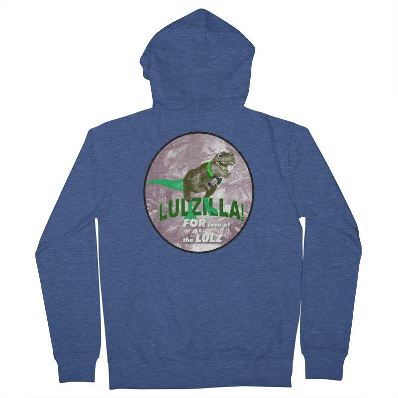 Lulzilla Logo Women's French Terry Zip-Up Hoody by PGMercher  - A Pretty Good Merch Shop