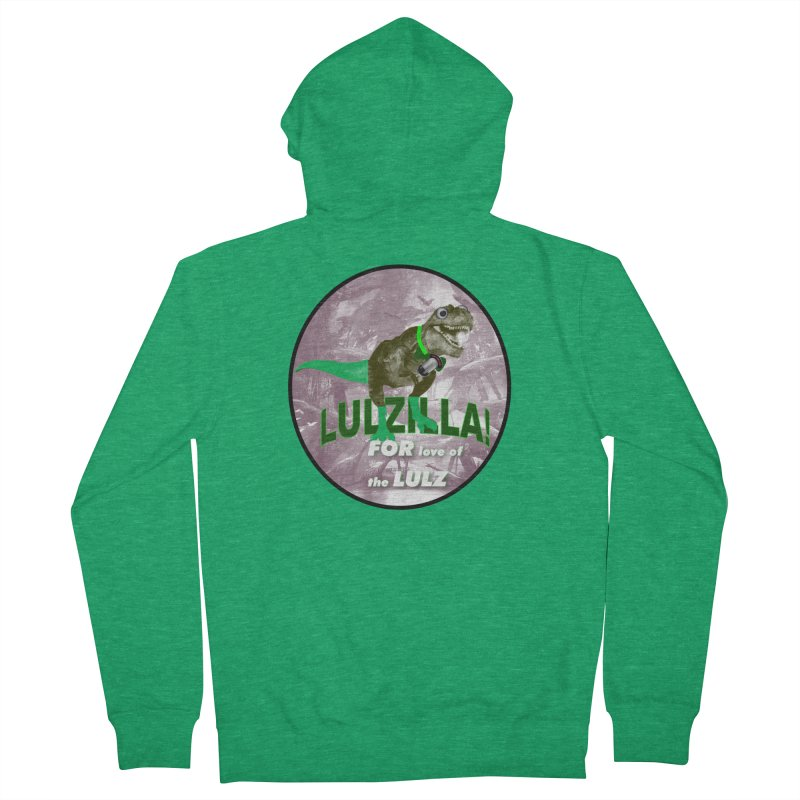Lulzilla Logo Men's Zip-Up Hoody by PGMercher  - A Pretty Good Merch Shop