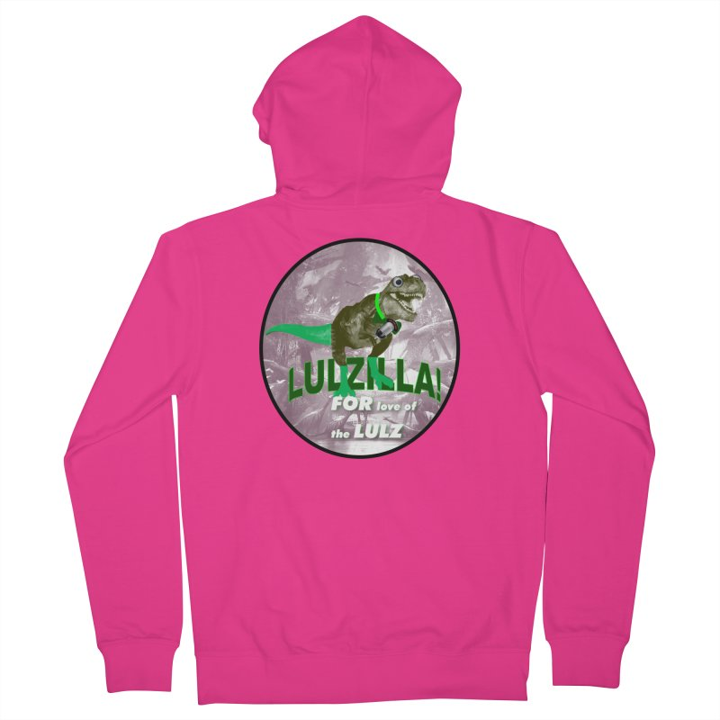 Lulzilla Logo Men's French Terry Zip-Up Hoody by PGMercher  - A Pretty Good Merch Shop