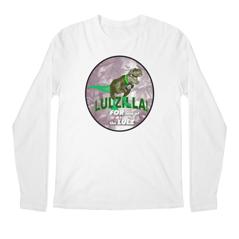 Lulzilla Logo Men's Regular Longsleeve T-Shirt by PGMercher  - A Pretty Good Merch Shop