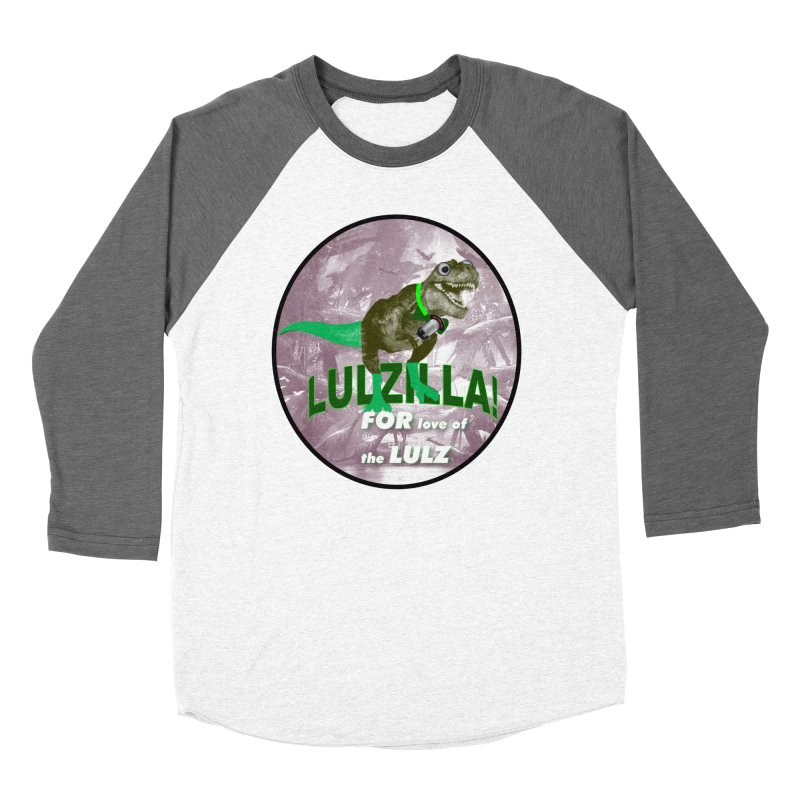 Lulzilla Logo Women's Baseball Triblend Longsleeve T-Shirt by PGMercher  - A Pretty Good Merch Shop